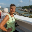 Lorna going into the Panama canal