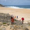 Walking  up from Salgado Beach, Siliver Coast Portugal