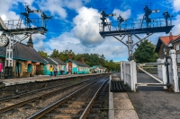 Signals at railway at Grosmont
