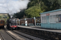 Norh York Moors Railway Steam train at Grosmont
