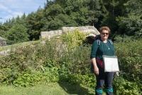 Laura at Beggar's Bridge at Glaisdale