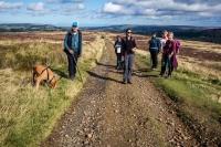 Walking across moors near Fryup