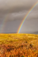 Rainbow over North Yorkshire moors near Fryup