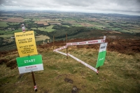 Start point of an Enduro mountain bike race in the North York Moors