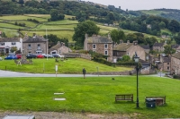 View from Black Bull in Reeth