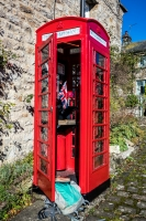 Well kept telephone box in Healaugh, Yorkshire Dales
