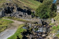 Waterfalls at Swinner Gill in Swaledale