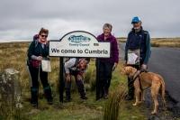 Team entering Cumbria on the B6270