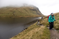 Grisedale Tarn appearing out of the mist