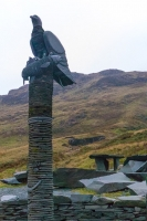 Slate sculpture at the Honister Slate Mine
