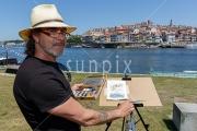 Local artist in Porto