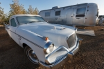 Vintage Studebaker and Airstream Trailer