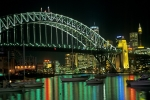 Sydney Harbour Bridge by night Australia