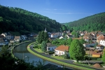 Canal at Lutzelbourg Alsace France Europe
