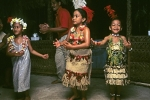 Local tongan dancing girls Tonga Pacific Ocean